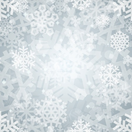 Shiny Silver Light Snowflakes Seamless Pattern for Christmas Des Illustration