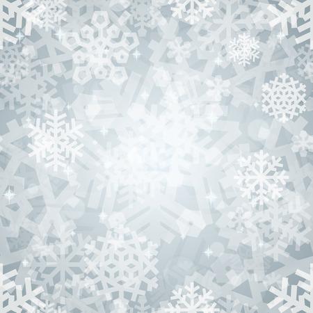 aluminum foil: Shiny Silver Light Snowflakes Seamless Pattern for Christmas Des Illustration
