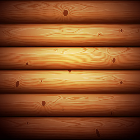 Wooden Timbered Wall Seamless Background. Clipping paths included in additional jpg format. Ilustração