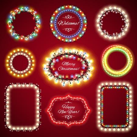 Światła: Christmas Lights Ramki z miejsca kopiowania Set1 dla projektu celebratory. Używane szczotki wzór wliczony w cenę.