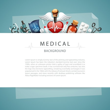 medical bills: Blue Medical Background with Copy Space