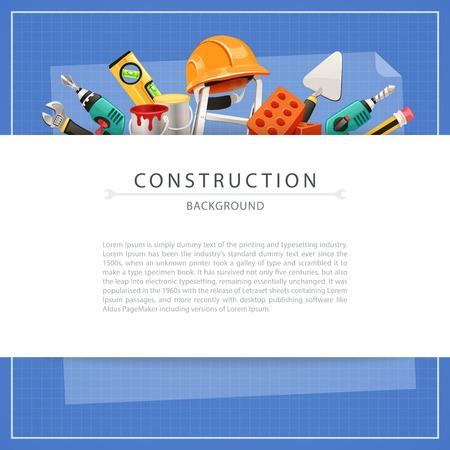 alba�il: Fondo del modelo de construcci�n con el espacio de la copia