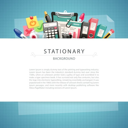 background stationary: Blue Stationary Background with Copy Space