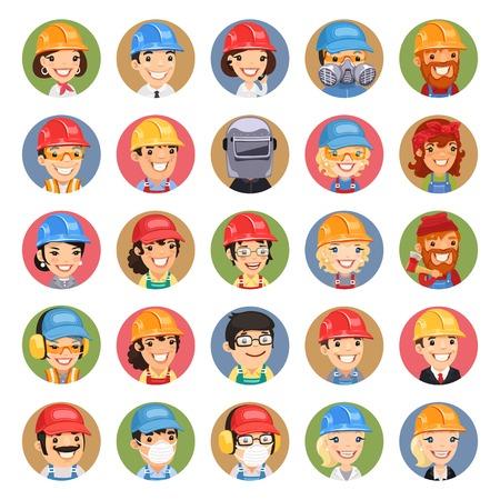 femme blonde: Constructeurs de personnages de dessin anim� Ic�nes Set1.3