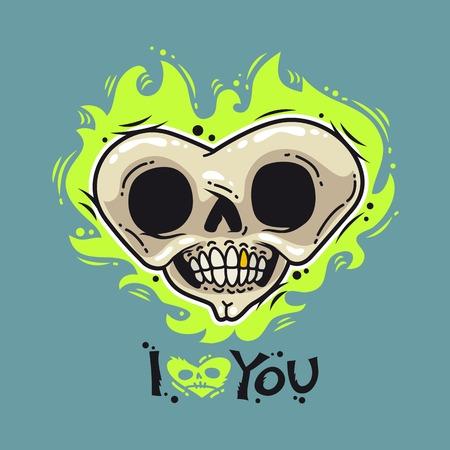 heart clipart: Burning Dead Heart Loves You