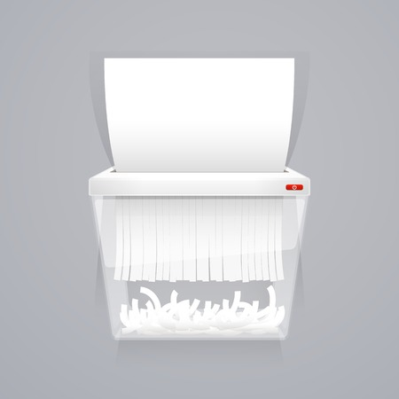 Paper Shredder Machine Vector Illustration
