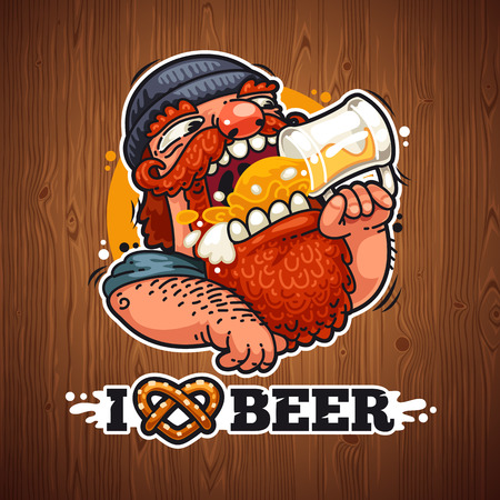 cartoon hat: Man Loves Beer