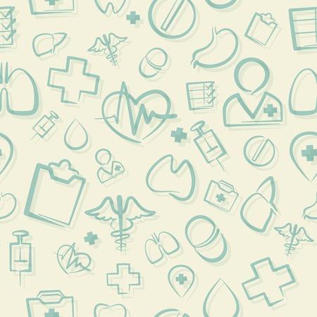 Green Medical Seamless Pattern Vector
