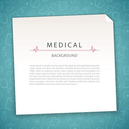 醫療保健: 海藍寶石醫學背景 向量圖像
