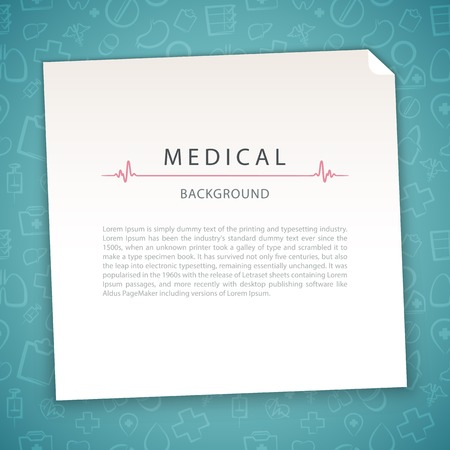 medical syringe: Aquamarine Medical Background