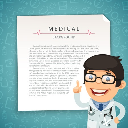 Aquamarine Medical Background with Doctor