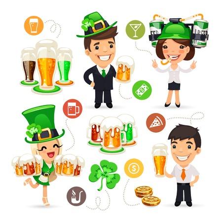 office party: Empleados de oficina sobre el Partido Patricks Day