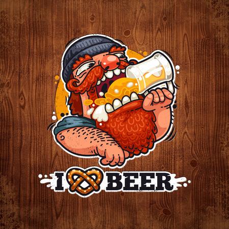 irish pub label design: Man Loves Beer