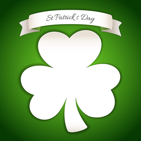 Fresh St Patricks Day Poster with Paper Clover
