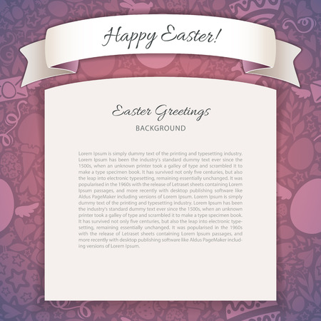 copy space: Happy Easter Poster With Copy Space Illustration