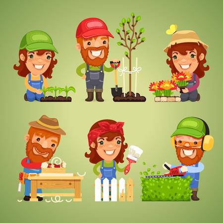 agricultor: Los agricultores en el Trabajo Conjunto Primavera