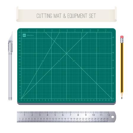 ruler: Cutting Mat and Equipment Set