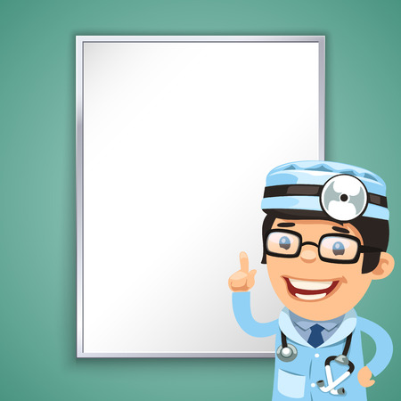 hospital care: Doctor Points on the Board