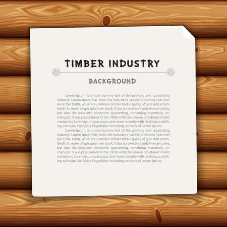 industry background: Antecedentes Industria de la Madera Vectores