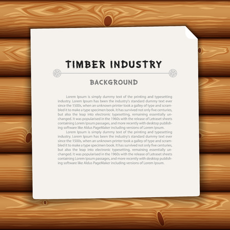 log wall: Timber Industry Background Illustration