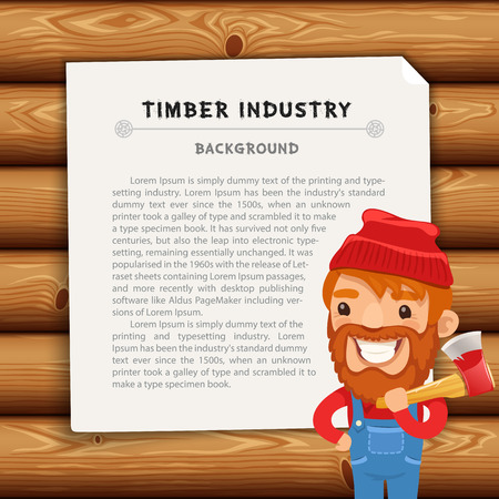 lumberjack: Timber Industry Background with Lumberjack