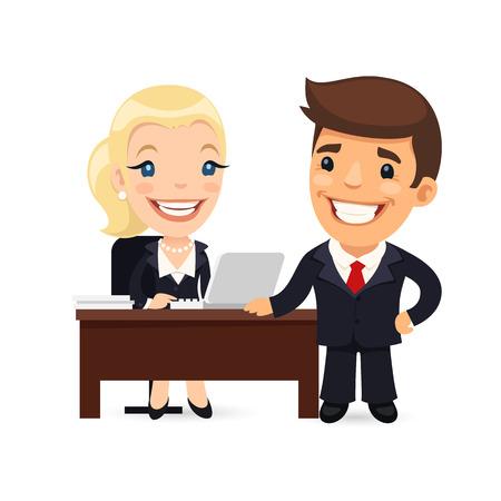 上司と秘書営業日を計画 写真素材 - 40013287