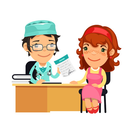 Lady Doctor Giving a Prescription to Her Female Patient