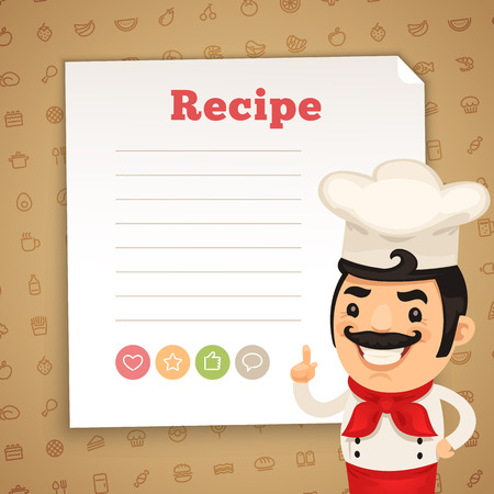 paper hats: Recipe Card with Chef