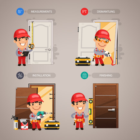 Door Installation Step by Step with Handyman Carpenter
