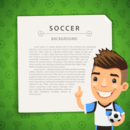 soccer balls: Green Background with Soccer Player