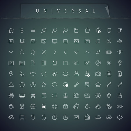 universal: Universal Thin Icons Set