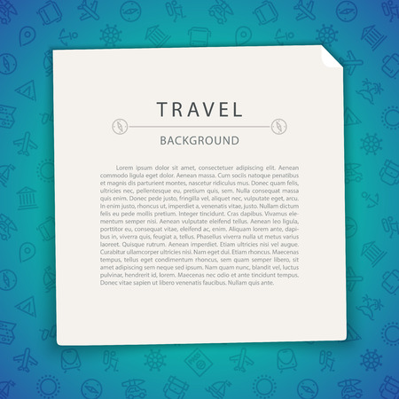 island cartoon: Colorful Travel Background with Copy Space. Seamless Pattern in Swatches. Clipping paths included in JPG file. Illustration