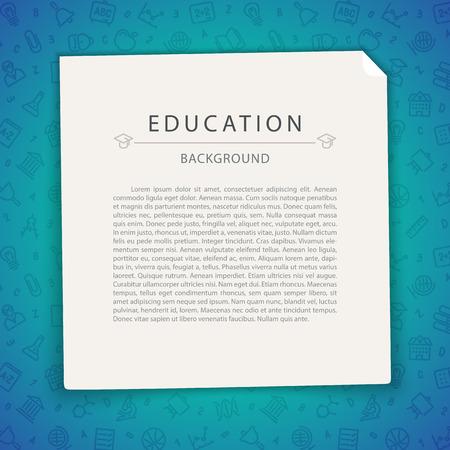 graduacion caricatura: Colorful Education Background with Copy Space