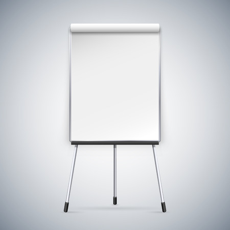 white board: Office Flipchart. Clipping paths included in JPG file.