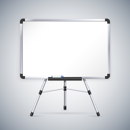 Office Whiteboard on Tripod. Clipping paths included in JPG file. Illustration