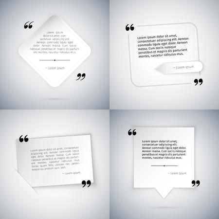 Four Simple Quote Templates. Ilustração
