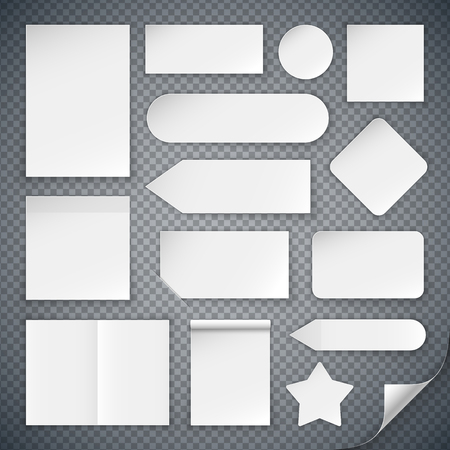 Set of White Paper Sheets Mock Ups
