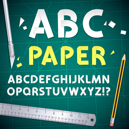 art and craft equipment: Cut Out Paper Alphabet and Equipment Set.
