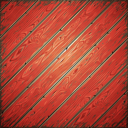 painted wall: Red old wooden painted wall diagonal. Vintage retro background. Editable pattern in swatches.