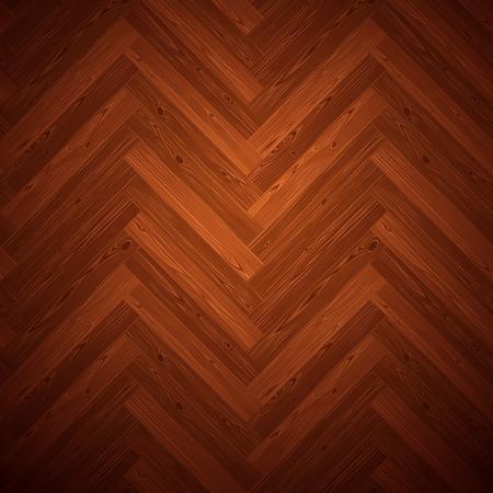 Espina de pescado piso de parquet oscuro textura. editable patrón de muestras. Ilustración de vector