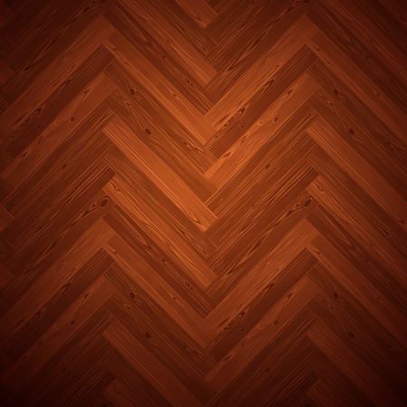 parquet floor: Herringbone parquet dark floor texture. Editable pattern in swatches. Illustration