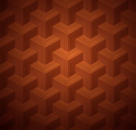 parquet texture: Dark parquet 3d seamless floor texture. Editable pattern in swatches. Illustration
