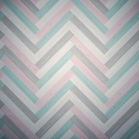 Mixed herringbone parquet dark floor texture. Editable pattern in swatches.