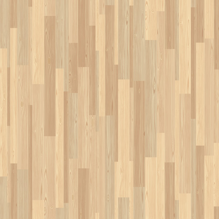 Light parquet seamless wooden floor stripe mosaic tile. Editable pattern in swatches.