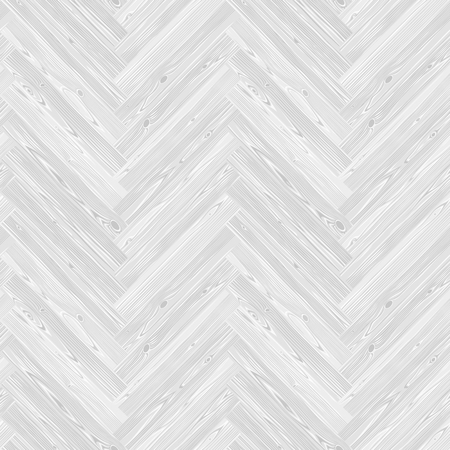 White herringbone parquet floor seamless texture. Editable pattern in swatches. Illustration