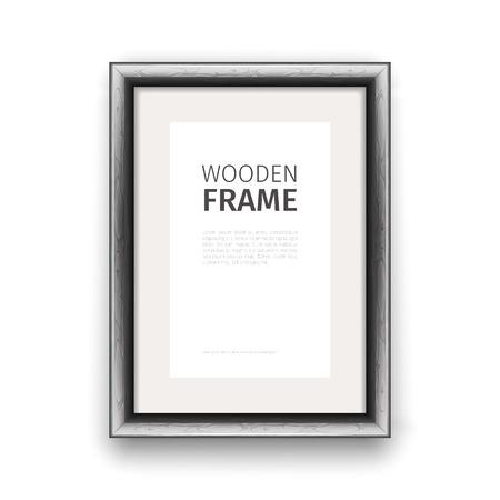 rectangle: Wooden rectangle frame dark.