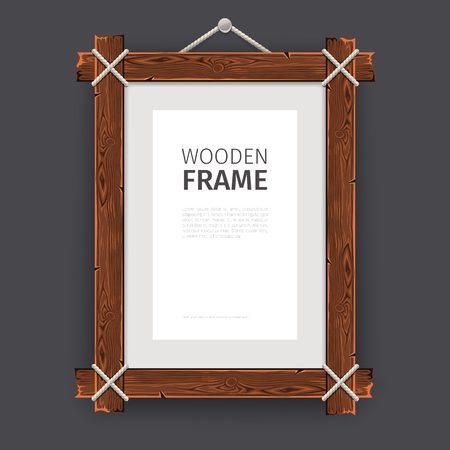 rectangle: Old wooden rectangle frame.