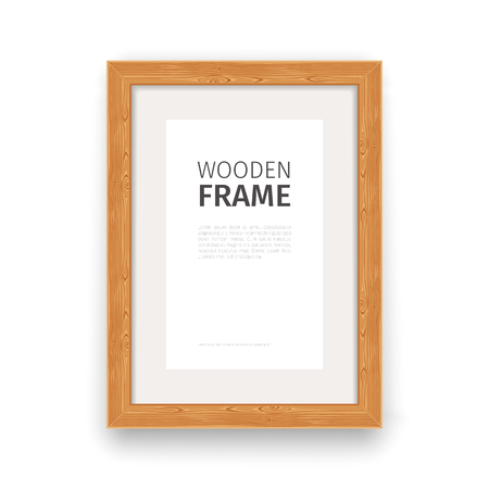 Wooden rectangle frame natural. Used pattern brushes included in Brushes panel.