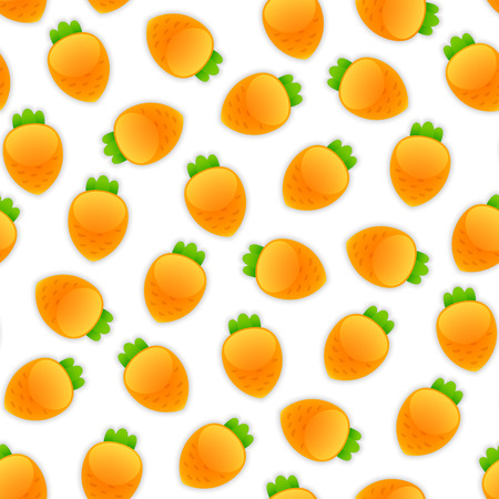 carrots isolated: Seamless pattern with a lot of carrots. Isolated on white background. Illustration