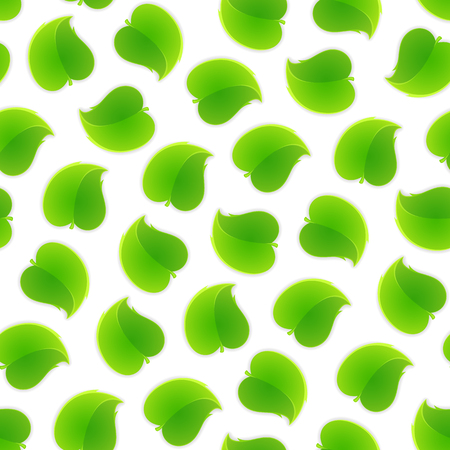 Seamless pattern with a lot of leafs. Isolated on white background. Clipping paths included. Illustration